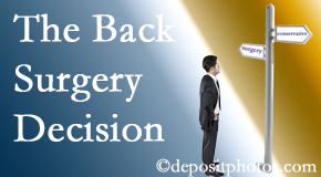 Burlington and Hamilton back surgery for a disc herniation is an option to be carefully studied before a decision is made to proceed.