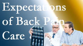 The pain relief expectations of Burlington and Hamilton back pain patients influence their satisfaction with chiropractic care. What is realistic?