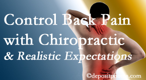 Spinal Care Clinic helps patients set realistic goals and find some control of their back pain and neck pain so it doesn't necessarily control them.