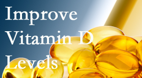 Spinal Care Clinic explains that it's beneficial to raise vitamin D levels.
