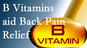 Spinal Care Clinic may include B vitamins in the Burlington and Hamilton chiropractic treatment plan of back pain sufferers.
