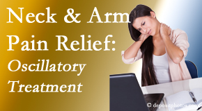 Spinal Care Clinic relieves neck pain and related arm pain by using gentle motion-based manipulation.