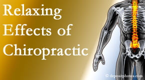 Spinal Care Clinic offers spinal manipulation for its calming effects for stress responses.