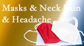 Spinal Care Clinic shares how mask-wearing may trigger neck pain and headache which chiropractic can help alleviate.