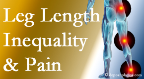 Spinal Care Clinic tests for leg length inequality as it is related to back, hip and knee pain issues.