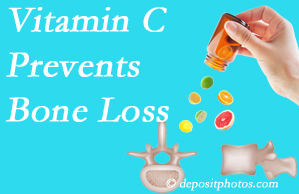 Spinal Care Clinic may recommend vitamin C to patients at risk of bone loss as it helps prevent bone loss.