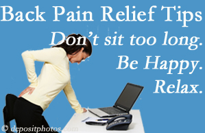 Spinal Care Clinic reminds you to not sit too long to keep back pain at bay!