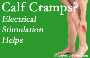 Burlington and Hamilton calf cramps associated with back conditions like spinal stenosis and disc herniation find relief with chiropractic care's electrical stimulation.