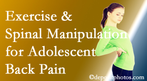 Spinal Care Clinic uses Burlington and Hamilton chiropractic and exercise to help back pain in adolescents.