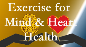 A healthy heart helps maintain a healthy mind, so Spinal Care Clinic encourages exercise.