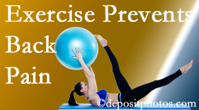 Spinal Care Clinic suggests Burlington and Hamilton back pain prevention with exercise.