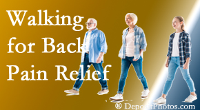 Spinal Care Clinic often recommends walking for Burlington and Hamilton back pain sufferers.