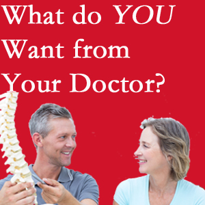 Burlington and Hamilton chiropractic at Spinal Care Clinic includes examination, diagnosis, treatment, and listening!