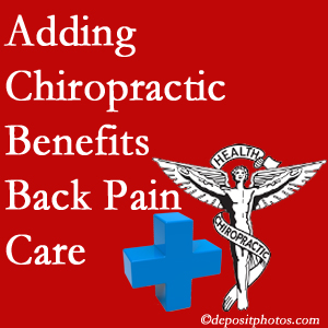 Added Burlington and Hamilton chiropractic to back pain care plans helps back pain sufferers.
