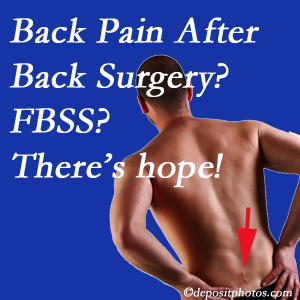 Burlington and Hamilton chiropractic care offers a treatment plan for relieving post-back surgery continued pain (FBSS or failed back surgery syndrome).
