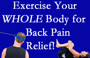 Burlington and Hamilton chiropractic care includes exercise to help enhance back pain relief at Spinal Care Clinic.