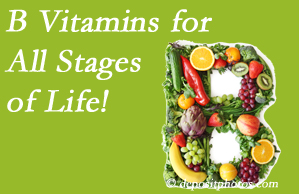 Spinal Care Clinic suggests a check of your B vitamin status for overall health throughout life.
