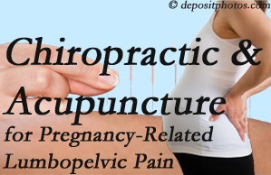 Burlington and Hamilton chiropractic and acupuncture may help pregnancy-related back pain and lumbopelvic pain.