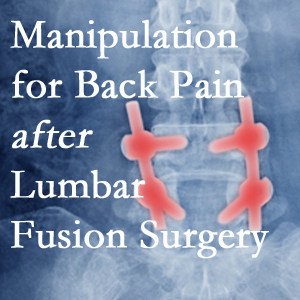 Burlington and Hamilton chiropractic spinal manipulation helps post-surgical continued back pain patients discover relief of their pain despite fusion.