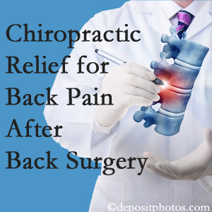 Spinal Care Clinic offers back pain relief to patients who have already undergone back surgery and still have pain.