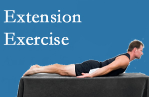 Spinal Care Clinic recommends extensor strengthening exercises when back pain patients are ready for them.