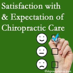 Burlington and Hamilton chiropractic care delivers patient satisfaction and meets patient expectations of pain relief.