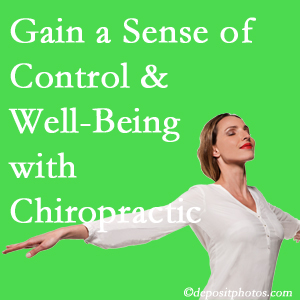 Using Burlington and Hamilton chiropractic care as one complementary health alternative boosted patients sense of well-being and control of their health.