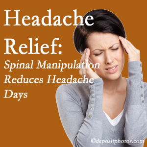 Burlington and Hamilton chiropractic care at Spinal Care Clinic may reduce headache days each month.