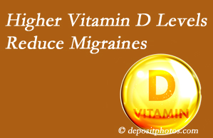 Spinal Care Clinic shares a new report that higher Vitamin D levels may reduce migraine headache incidence.