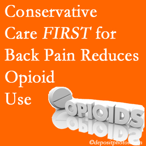 Spinal Care Clinic delivers chiropractic treatment as an option to opioids for back pain relief.