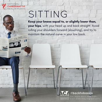 Burlington and Hamilton chiropractic patients know to sit up straight!